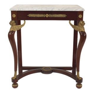 French Empire Style '19th-20th Century Console Table For Sale