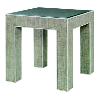 Century Furniture Newport End Table, French Grey and Peninsula For Sale