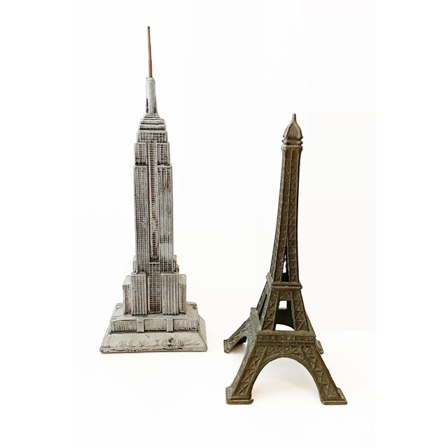 Metal Empire State Building and Eiffel Tower Buildings For Sale - Image 7 of 7