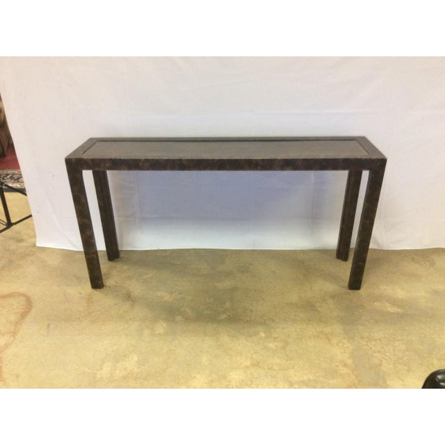 Widdicomb Brass & Faux Tortoise Console Table - Image 2 of 7