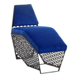 Modern Petite Chaise Lounge Chair by Rehab Vintage Interiors, Custom Made to Order For Sale