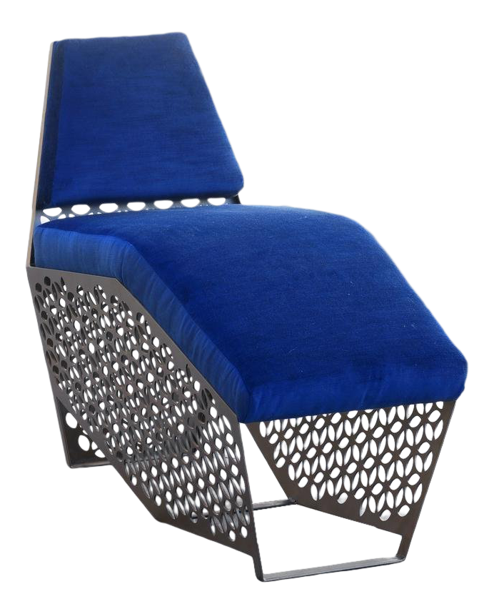 Modern Petite Chaise Lounge Chair By Rehab Vintage Interiors, Custom Made  To Order