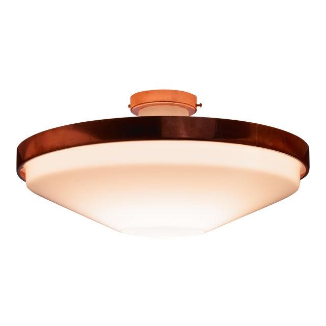 Itsu Plexiglass and Copper Ceiling Lamp, Finland, 1950s For Sale