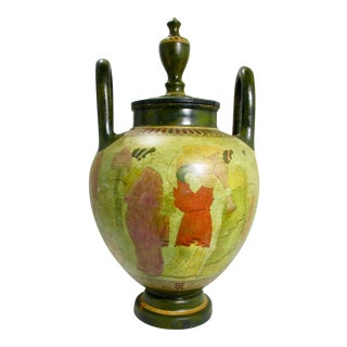 Greek Neoclassical Reproduction of Attic Lidded Urn For Sale
