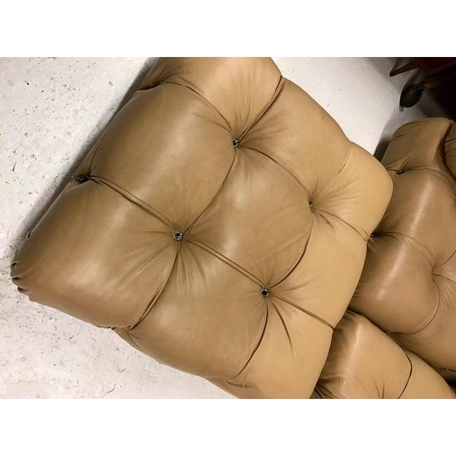 B&B Italia B&b Italia Camaleonda Mario Bellini All Leather Modular Sectional Sofa 3 Pieces For Sale - Image 4 of 11