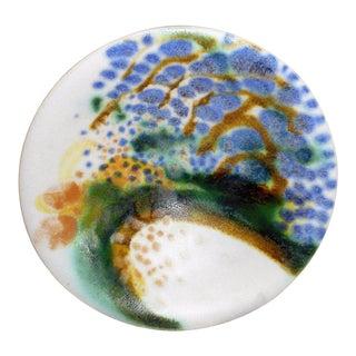 Vintage John Loree Studio Pottery Porcelain Summer Tea Bowl For Sale