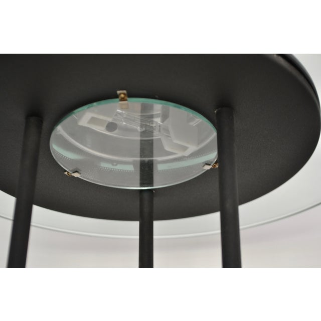 Black Postmodern Matte Black Table Lamp With Glass Disk For Sale - Image 8 of 10