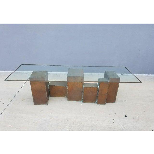 Brown 1970's Vintage David Marshall Brutalist Coffee Table For Sale - Image 8 of 11
