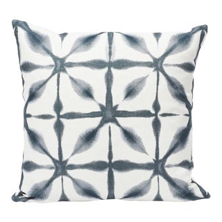 Schumacher Double-Sided Pillow in Andromeda Linen Print For Sale