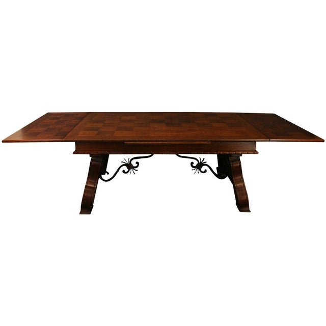 Brown Vintage French Renaissance-Style Dining Table For Sale - Image 8 of 12