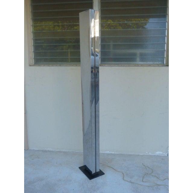 Metal 1970s Vintage Casella Chromed Steel Skyscraper Lamp For Sale - Image 7 of 10