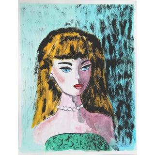 Barbie Portrait in a Green Dress by Cleo Plowden For Sale