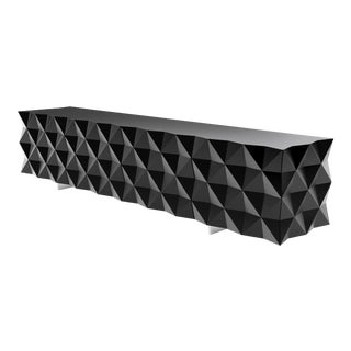 Joel Escalona Rocky Collection Geometric Black Tv Cabinet For Sale