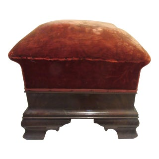 Antique Victorian Ottoman or Footstool