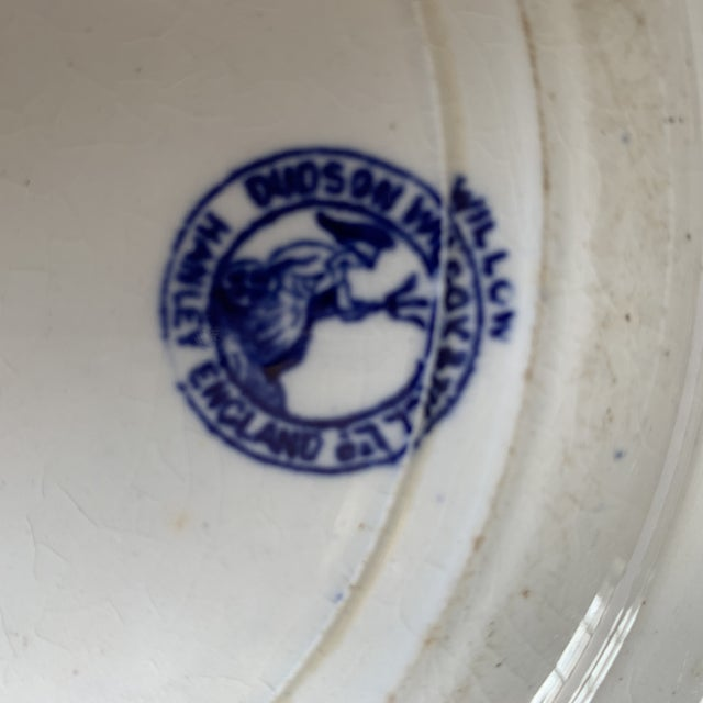 English Early 20th Century Blue Willow Deep Cobalt Plate For Sale - Image 3 of 4