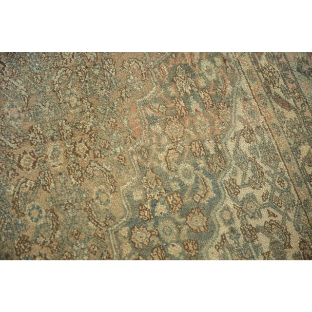 "Shabby Chic Vintage Distressed Bibikabad Carpet - 9'5"" X 18'2"" For Sale - Image 3 of 13"