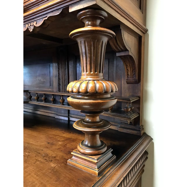 Late 19th / Early 20th Century French Carved Walnut Buffet a Deux Corps - Image 9 of 11