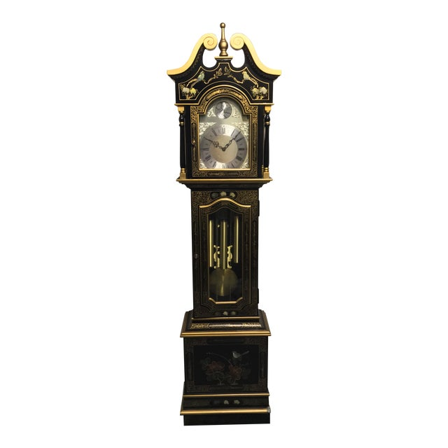 Chinoiserie Tempus Fugit Grandfather Clock - Image 1 of 10
