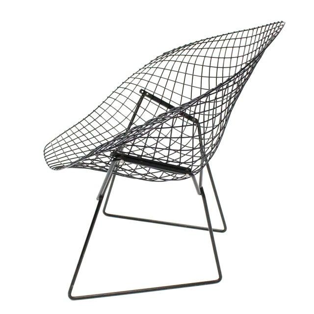 Harry Bertoia Diamond Black Chairs - A Pair - Image 4 of 5