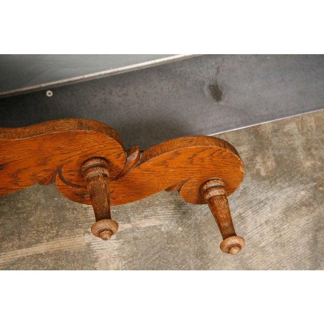 Victorian Carved Oak and Antler Coat/Hat Rack - Image 2 of 8