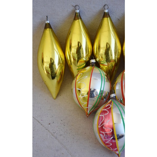 Adirondack Large Vintage Colorful Christmas Tree Ornaments - Set of 8 For Sale - Image 3 of 7