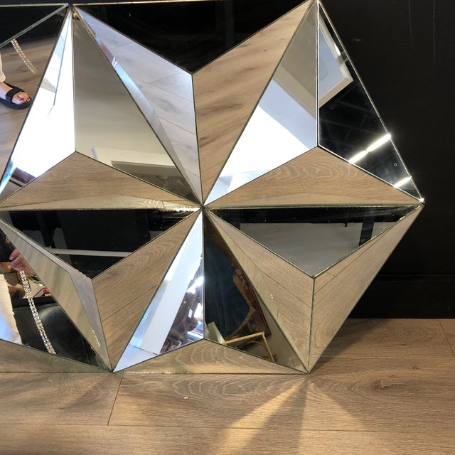 Fabulous multi faceted pyramid mirror
