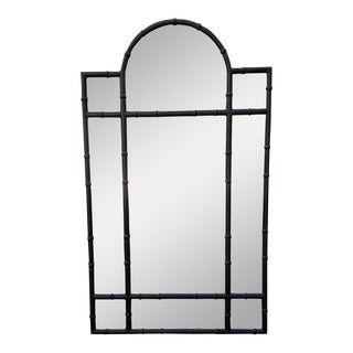 Huge Paul Ferrante Black Wrought Iron Rustic Designer Mirror - Melrose Place For Sale