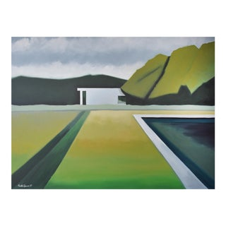 Abstract Landscape Poolside - 36x48 For Sale