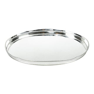 English Sheffield Silver Plated Art Deco Style Tray For Sale