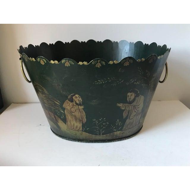 Painted Tole Cachet-Pot For Sale - Image 11 of 11