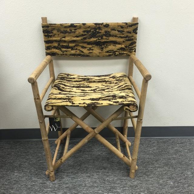 Textile Schumacher Fabric Folding Safari Chair For Sale - Image 7 of 7