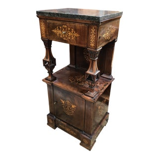 1900s Victorian Marble Top Pedestal For Sale