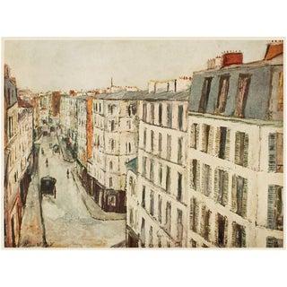 """1950s Maurice Utrillo """"Paris, Rue De La Jonquiere"""", First Edition Lithograph For Sale"""