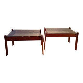 1960s Vintage Percival Lafer Side Tables - A Pair For Sale