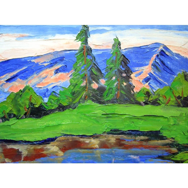 "California Plein Air Landscape ""Sierra Mountain Pond"" Painting For Sale"