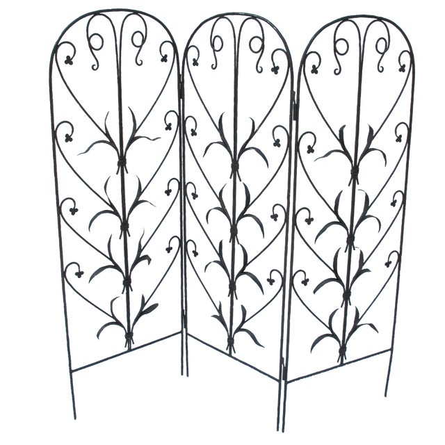 Early 20th-C. Wrought Iron Screen - Image 1 of 9