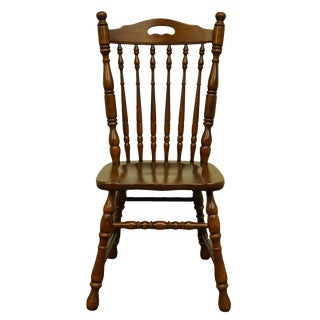 Late 20th Century Tell City Furniture Rustic Solid Cherry Chair For Sale
