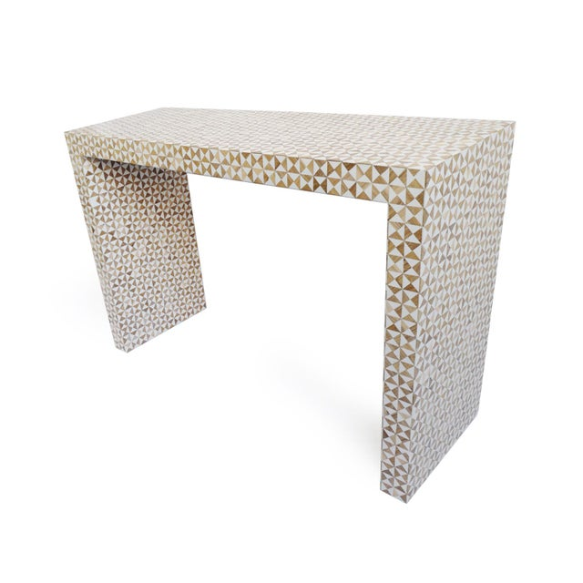 Contemporary Inlay Modern Geometric Console For Sale - Image 3 of 6