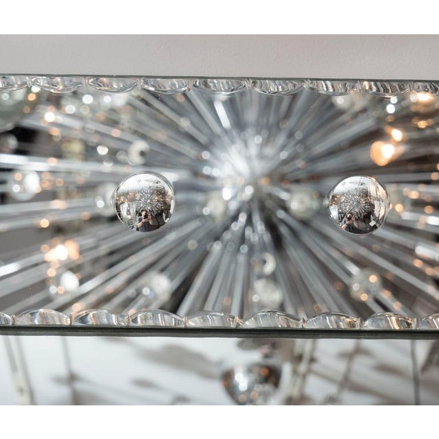 Crystal Custom Pie Crust Mirror with Ponti's For Sale - Image 7 of 10