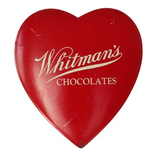 1940s Vintage Valentines Chocolate Heart Shop Sign For Sale