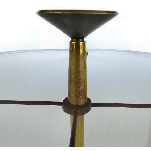 Metal Monumental Mid-Century Table Lamp by Tommi Parzinger for Stiffel For Sale - Image 7 of 9