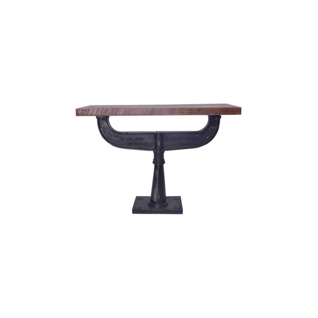 Modern Contemporary Austen Iron Console Table For Sale - Image 3 of 4