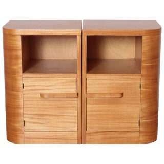 Art Deco Modern Age Nightstands / End Tables, Manner of Donald Deskey, Pair
