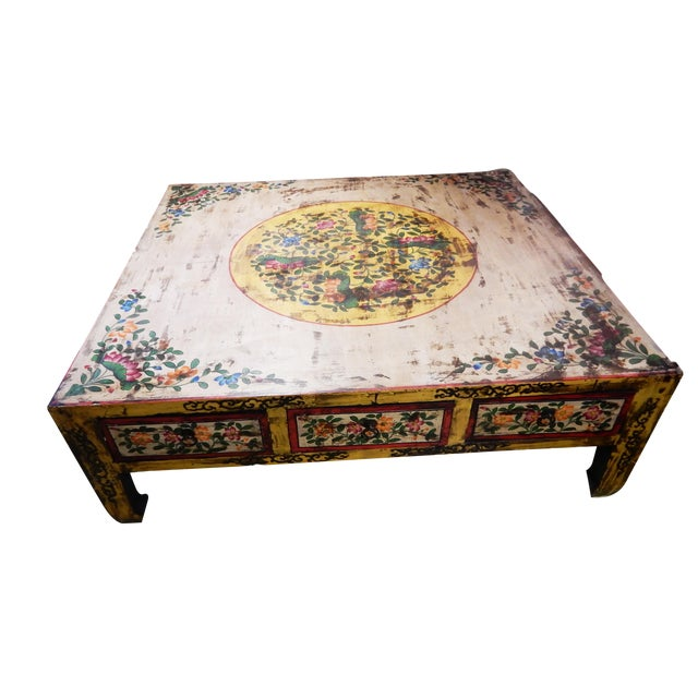 Asian Hand Painted Coffee Table Chairish