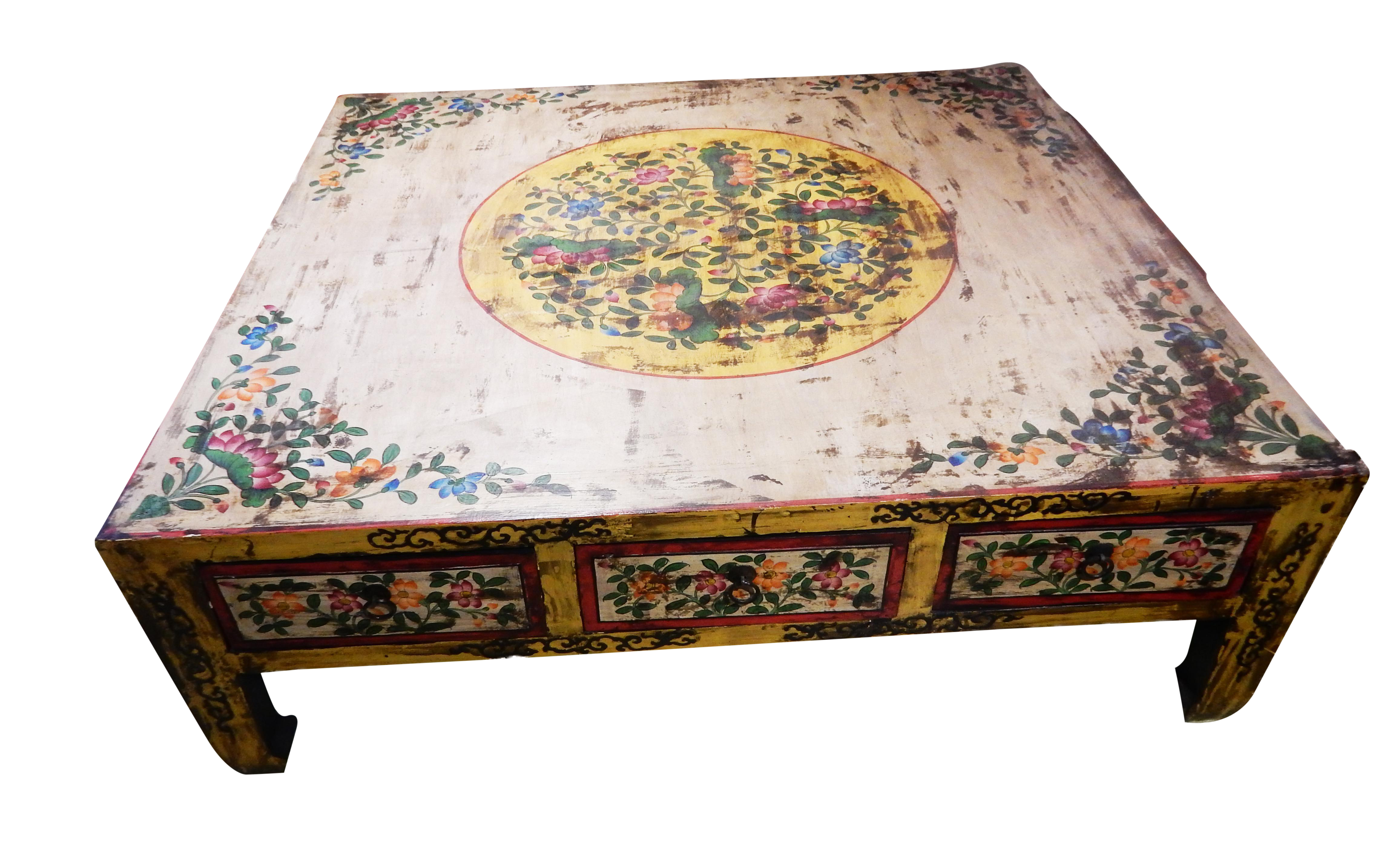 Asian Hand Painted Coffee Table