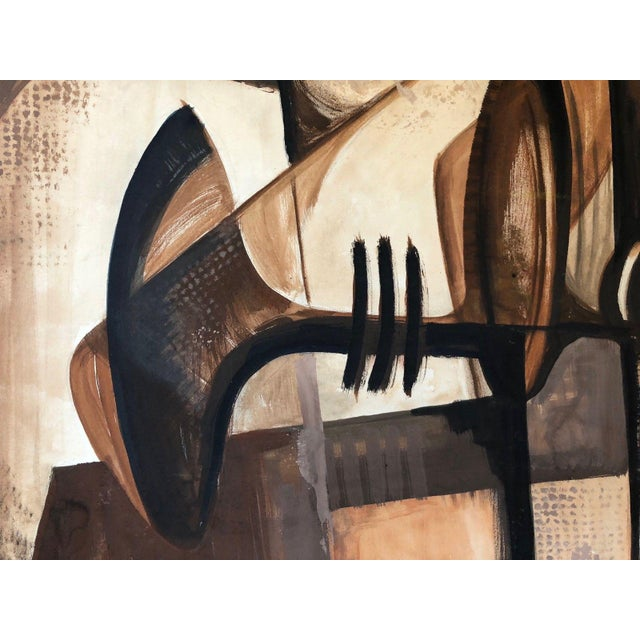 For your consideration we are presenting for sale a vintage abstract / cubist still life oil painting done on artist board...