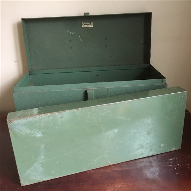 Vintage Green Kennedy Tool Box For Sale - Image 11 of 11