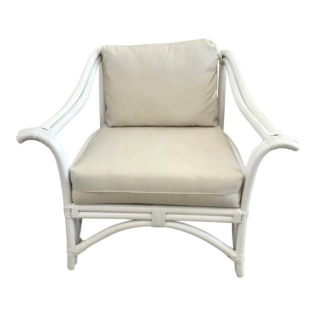 1960s Vintage Ficks Reed Club Chair For Sale