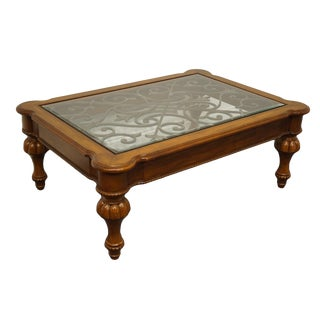 Ethan Allen Devereaux Italian Tuscan Style Coffee Table For Sale
