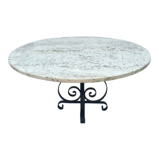 Mid-Century Marble Top Coffee Table For Sale